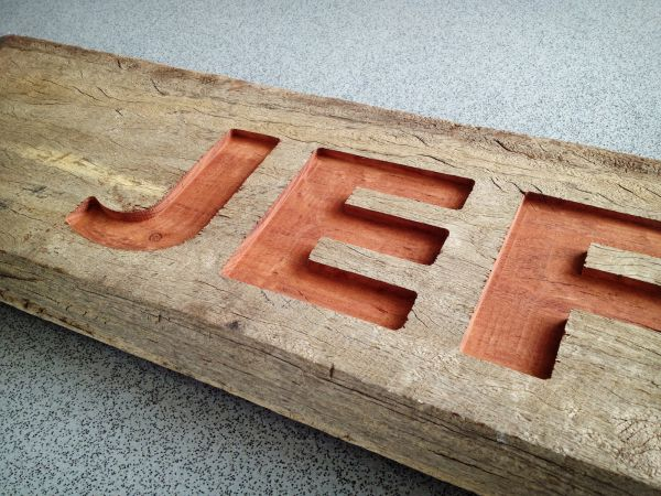 Jeff's Shed - CNC Routed (wood) Sign