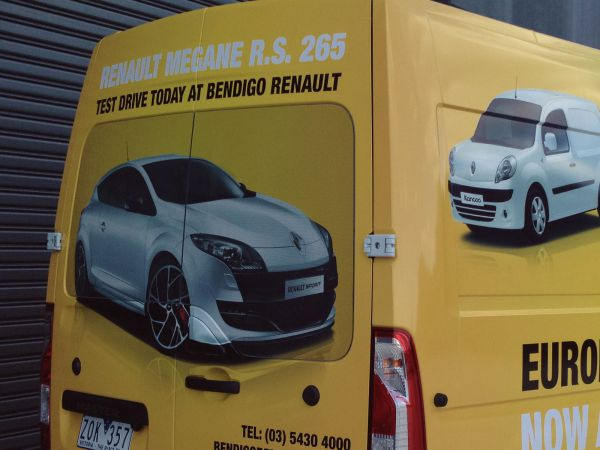 one way vision bendigo renault van