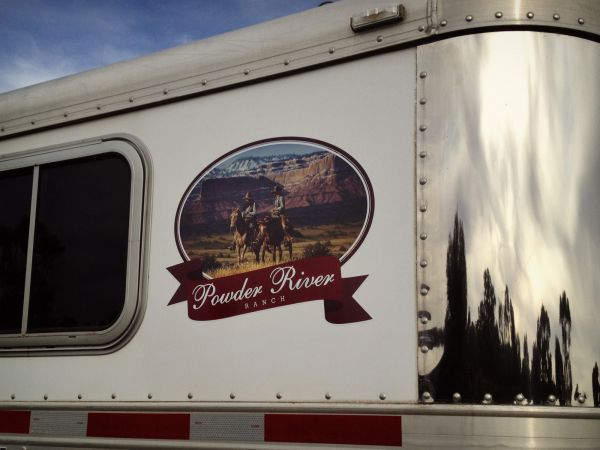 powder river ranch horse float digital print decal