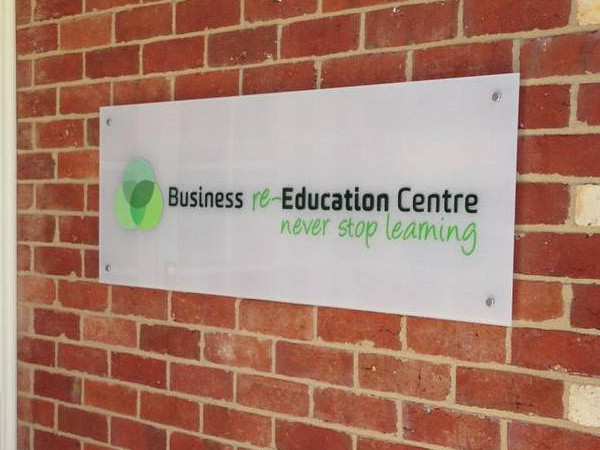 Business Education Centre Architectural Signage - SignMob (Bendigo Signwriter)