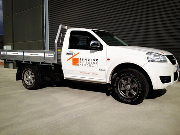 Bendigo Building Products Great Wall Ute Fleet Graphics - SignMob (Central VIC)